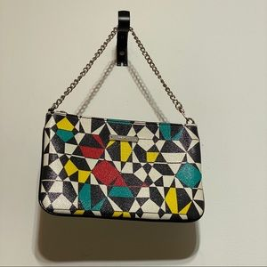 Nine West  Colorful Geometric Wristlet